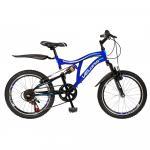 Bicicleta copii MTB-FS 20 Velors V2059A cadru otel albastru / alb