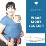 Wrap elastic Moby Classic Marina + Colier Itzy Ritzy Sherbert