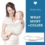 Wrap elastic Moby Design Black Dots + Colier Itzy Ritzy Sherbert
