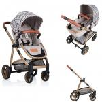 Carucior Kiddo Jazz 2 in 1 Sand Gold Triangle