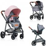 Carucior Kiddo Jazz 3 in 1 Deluxe Rose