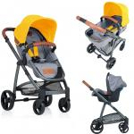 Carucior Kiddo Jazz 3 in 1 Transformabil Lemon