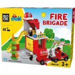 Joc de constructie Mubi - Unitatea de pompieri (48 piese)