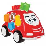 Masinuta cu forme de sortat Smart Shape Sorter Car Red