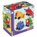 Set Constructie 4 Vehicule pentru copii Model Blocks