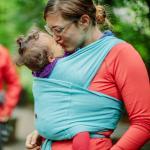 Sistem purtare Baby Ktan Baby Carrier Breeze Teal Marimea L