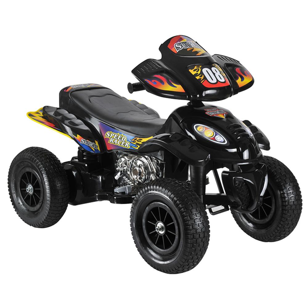 ATV electric cu roti gonflabile Supreme Black din categoria La Plimbare de la MONI