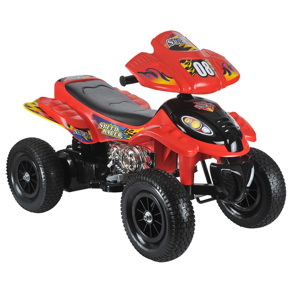 ATV electric cu roti gonflabile Supreme Red din categoria La Plimbare de la MONI