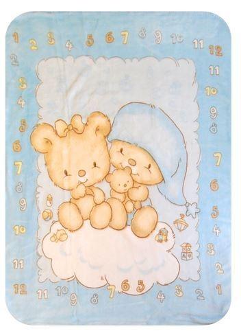 Paturica plus in cutie 80x110 cm Ursulet blue