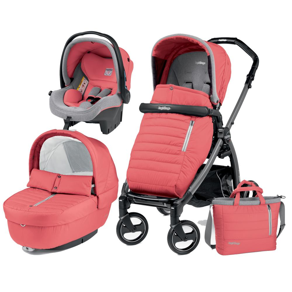 Carucior 3 in 1 Peg Perego Book Plus S Black Breeze Coral