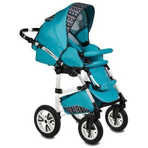 Carucior Flamingo Easy Drive 3 in 1 Vessanti Turquoise imagine