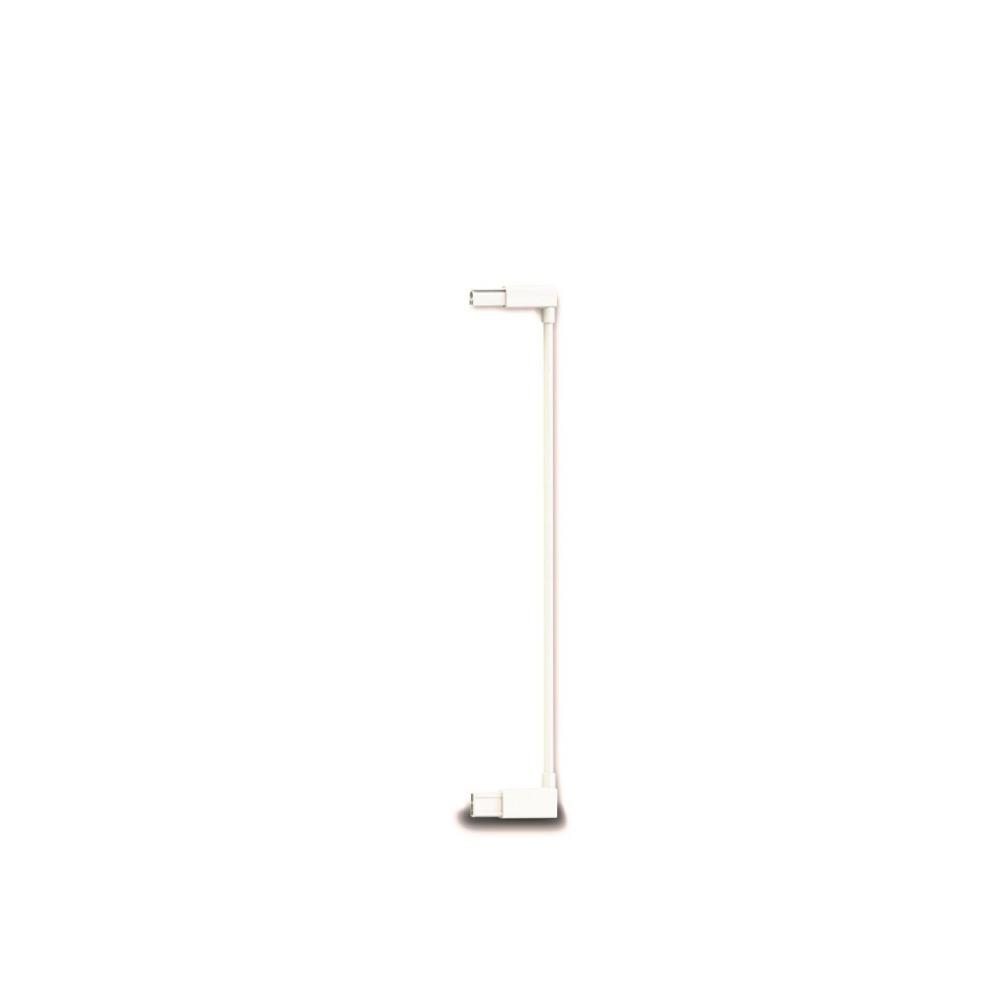 Extensie poarta de siguranta Noma metal alb 7 cm N93682