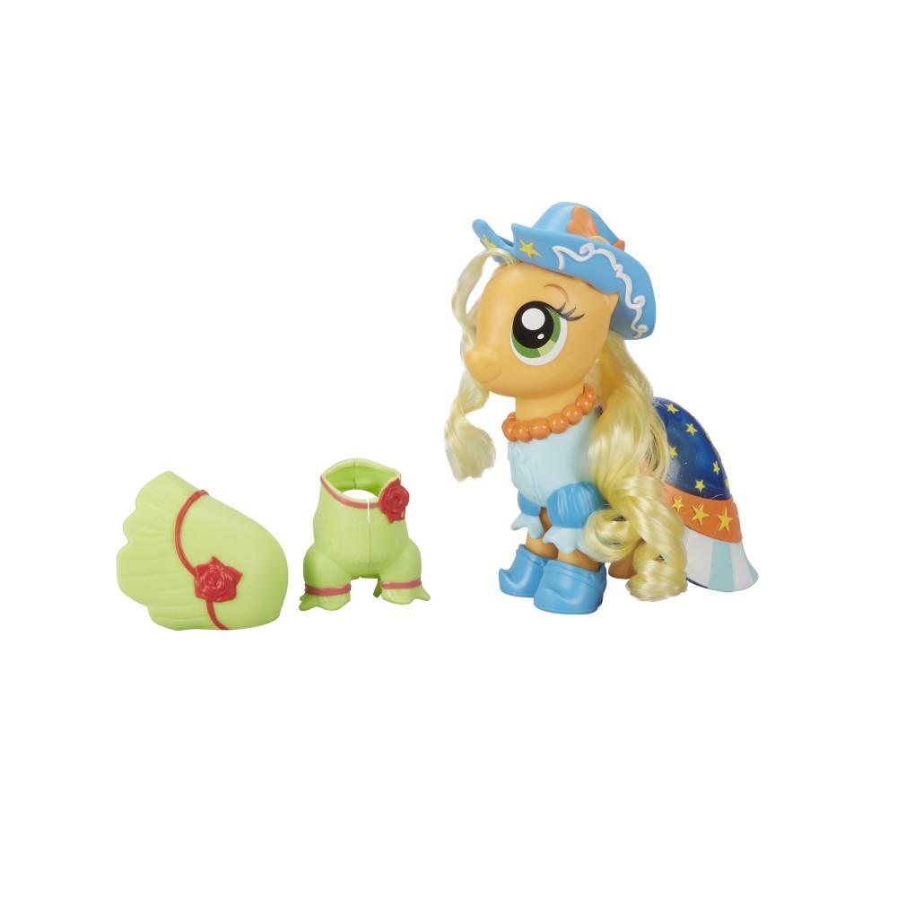 Figurina Ponei AppleJack cu hainute si accesorii My Little Pony