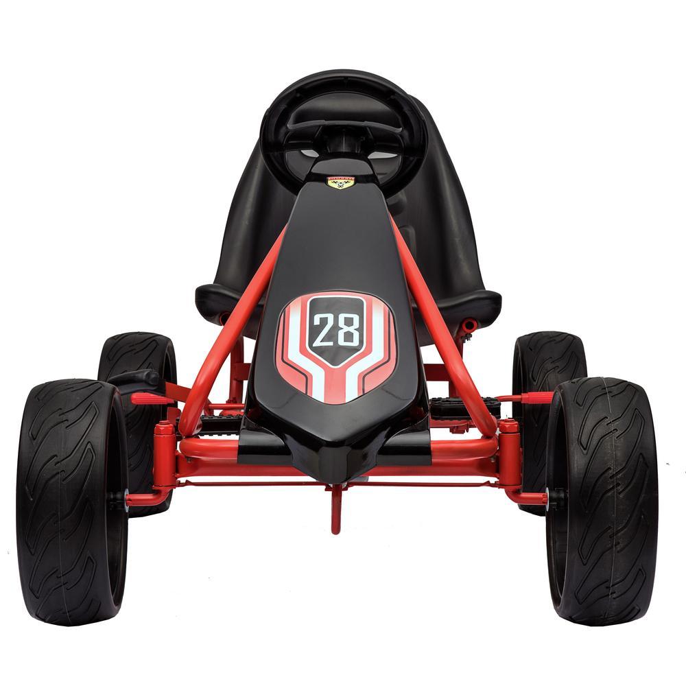 Kart cu pedale si roti de cauciuc Champion Red
