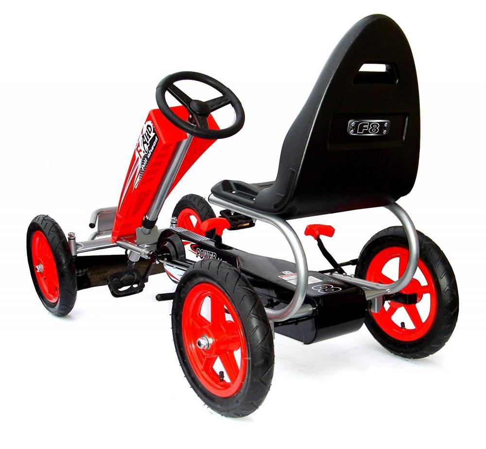 Kart cu pedale si roti gonflabile Full Ahead Racer Red imagine