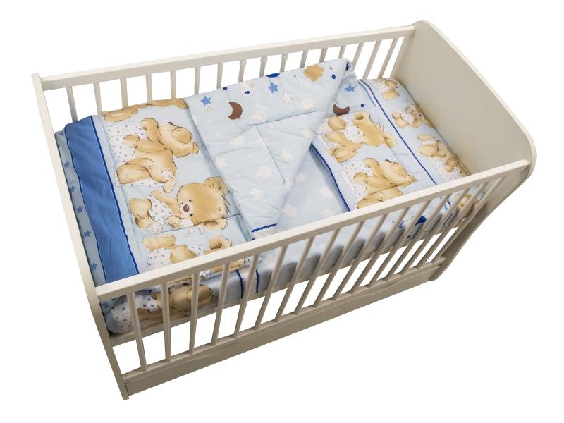 Lenjerie Teddy Hug Blue 3 piese 140x70