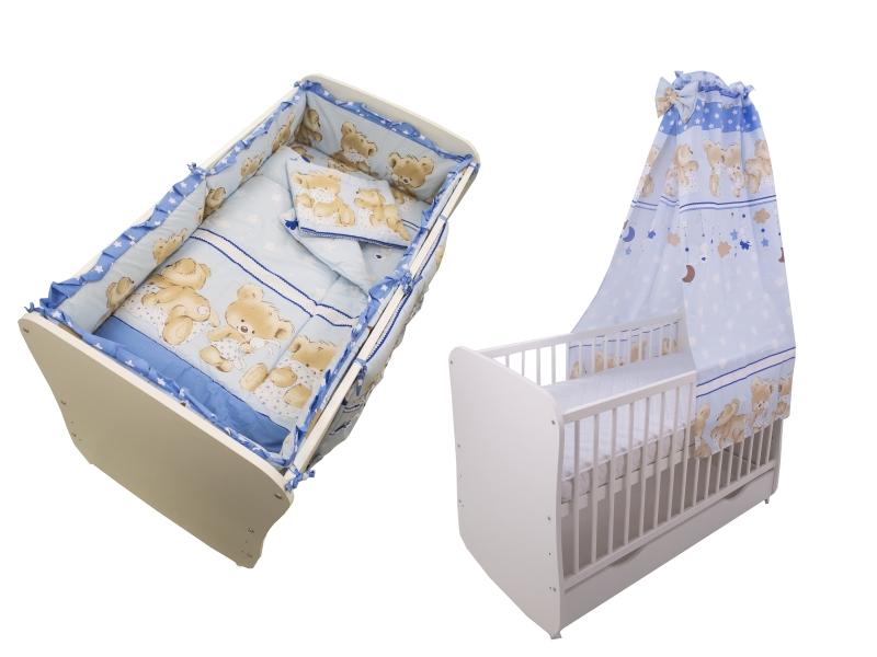 Lenjerie Teddy Hug Blue 5+1 Piese M1 120x60 cm