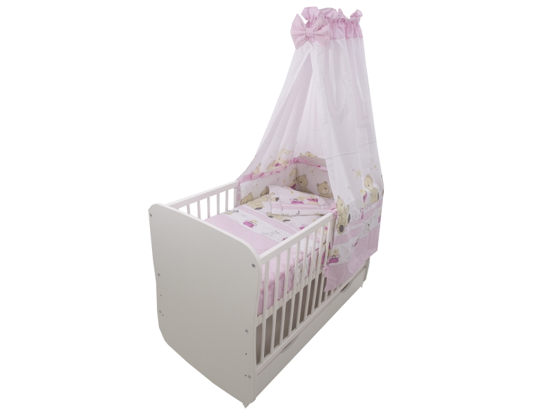 Lenjerie Teddy Play Pink M1 5 piese 140x70 cm