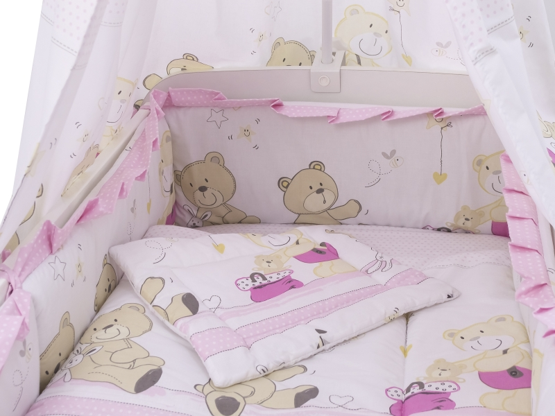 Lenjerie Teddy Play Pink 5+1 piese M1 120x60 cm