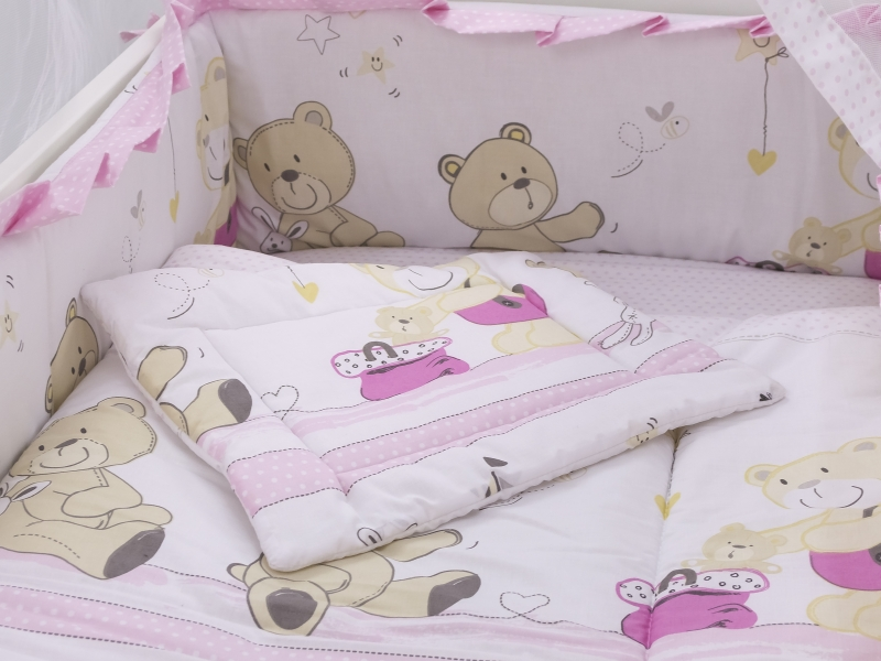 Lenjerie Teddy Play Pink M1 4+1 piese 140x70
