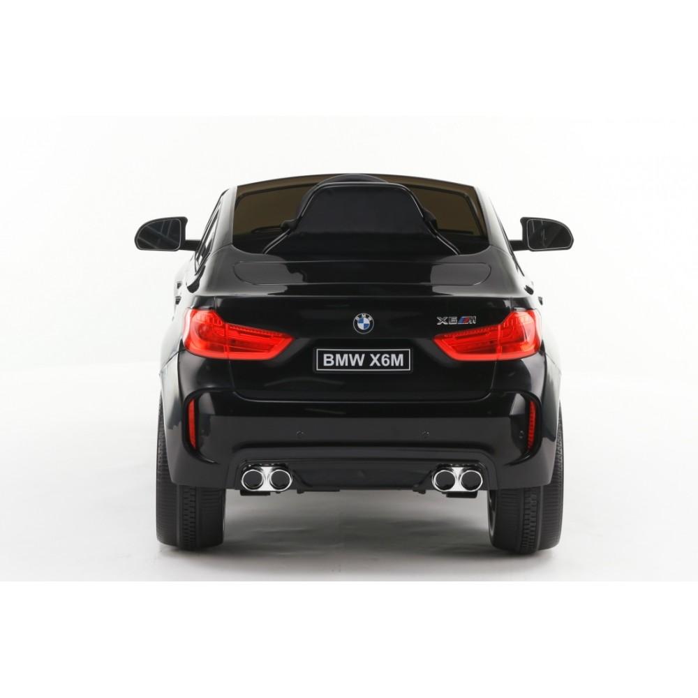 Masinuta electrica cu telecomanda si roti din cauciuc BMW X6M Black - 1
