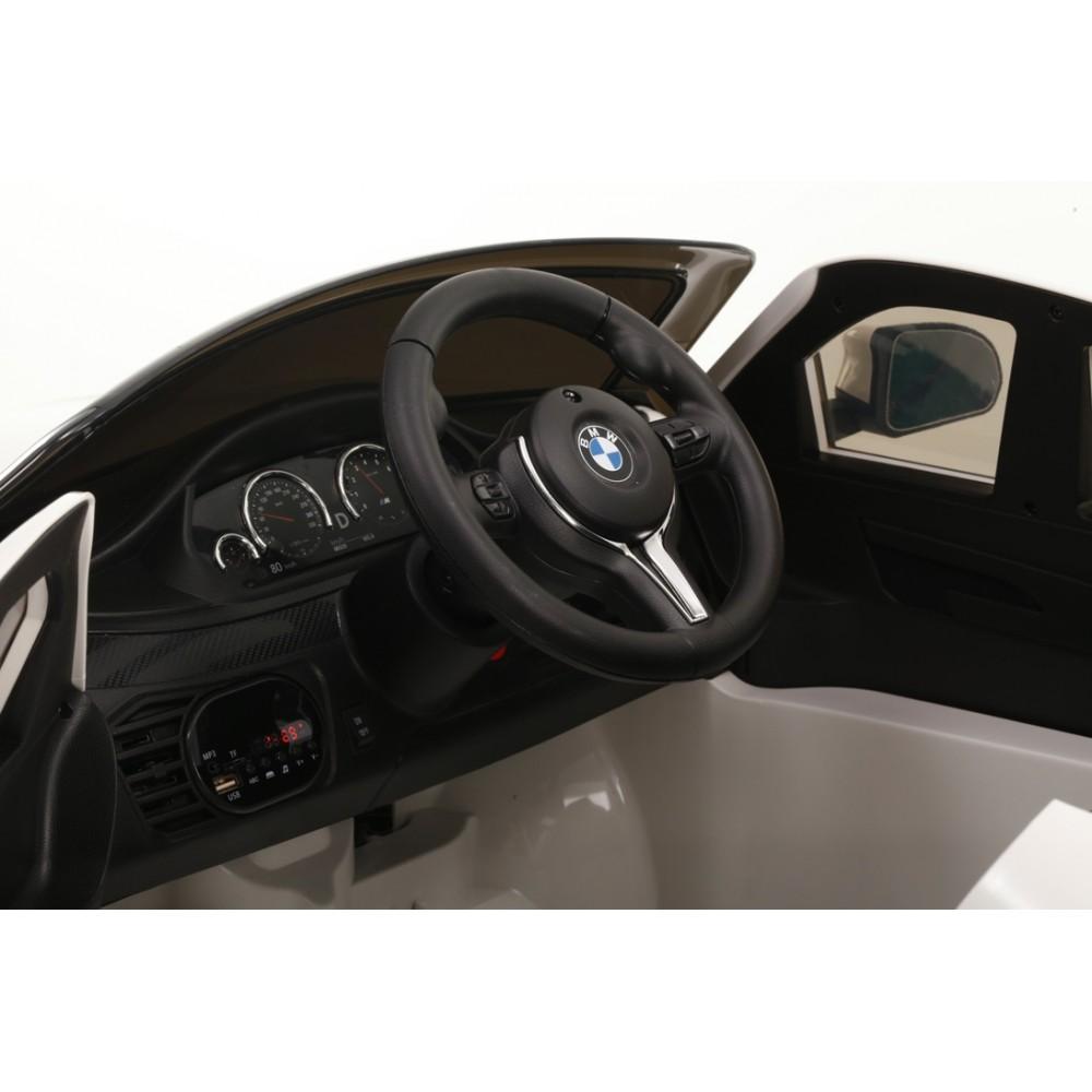 Masinuta electrica cu telecomanda si roti din cauciuc BMW X6M Black - 2