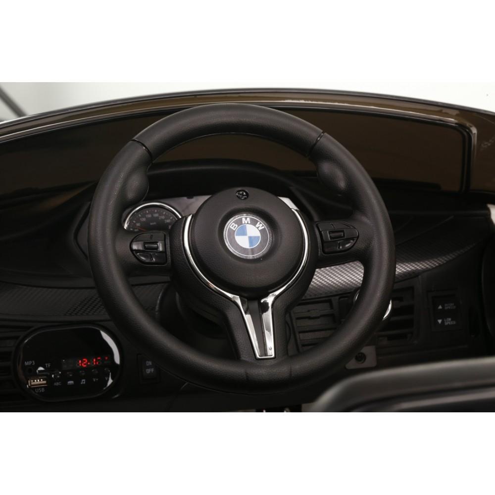 Masinuta electrica cu telecomanda si roti din cauciuc BMW X6M Black - 3