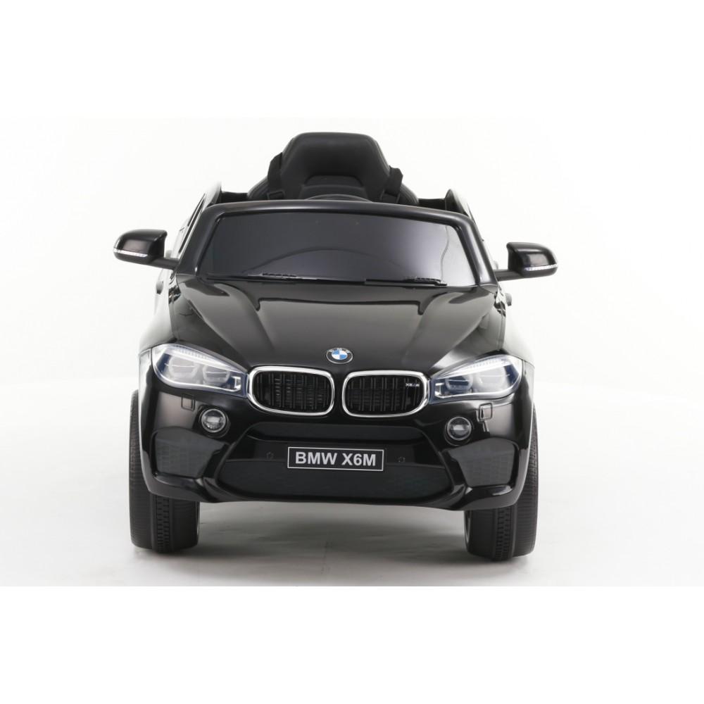 Masinuta electrica cu telecomanda si roti din cauciuc BMW X6M Black - 4