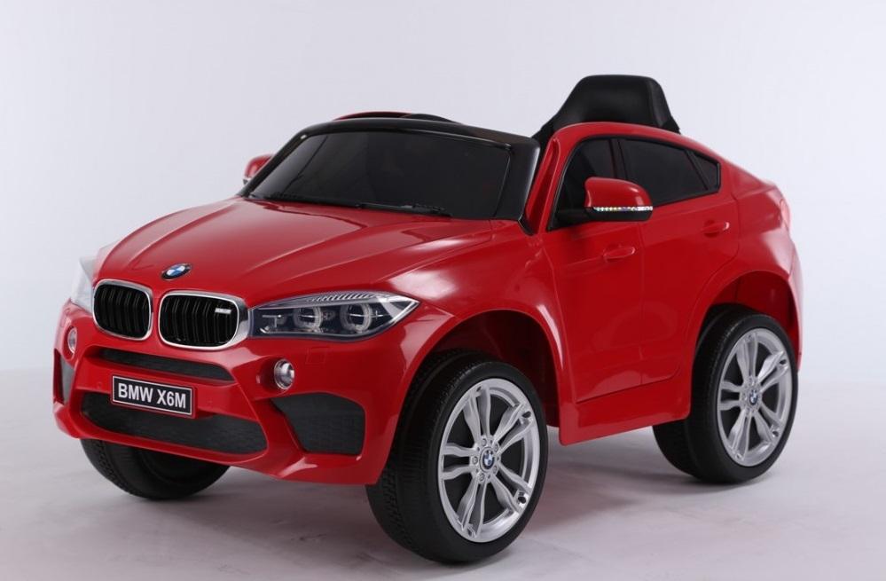 Masinuta electrica cu telecomanda si roti din cauciuc BMW X6M Red - 8