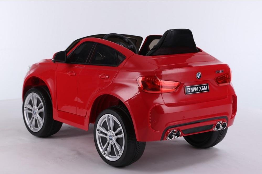 Masinuta electrica cu telecomanda si roti din cauciuc BMW X6M Red