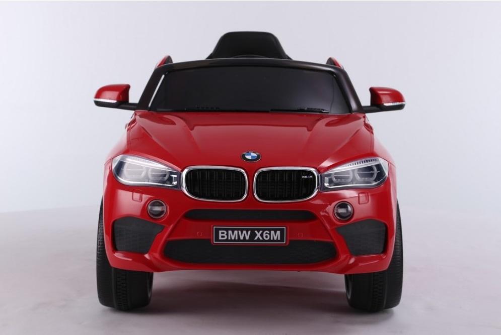 Masinuta electrica cu telecomanda si roti din cauciuc BMW X6M Red - 5