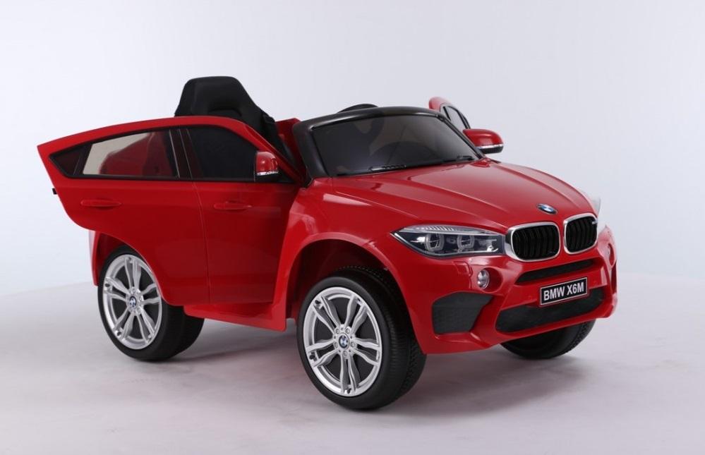 Masinuta electrica cu telecomanda si roti din cauciuc BMW X6M Red - 6
