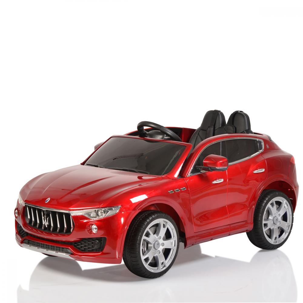 Masinuta electrica cu scaun de piele si roti de cauciuc Maserati Levante Red