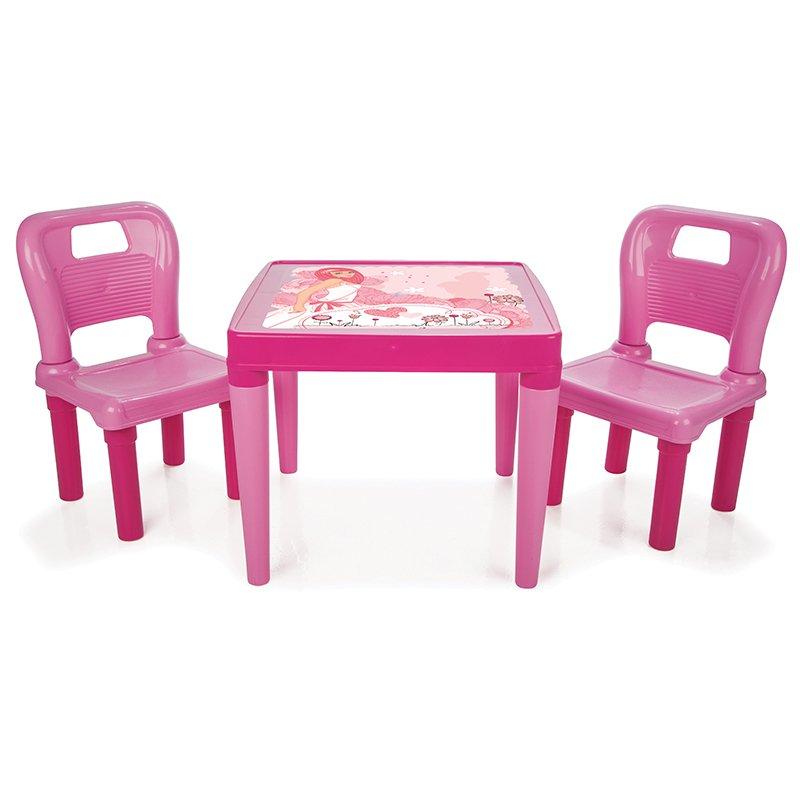 Masuta cu doua scaunele Pink