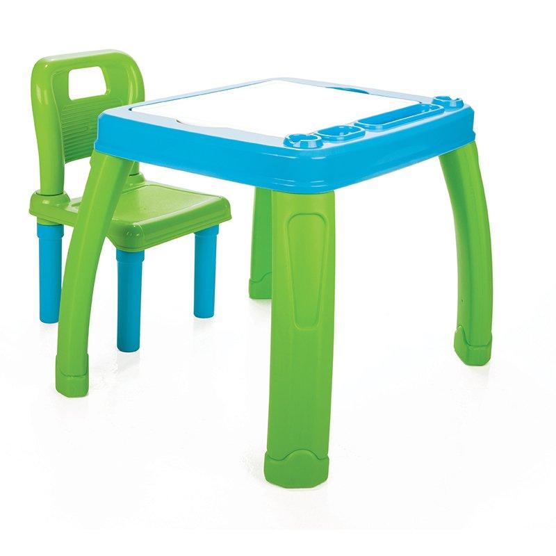 Masuta de studiu cu scaunel Albastru