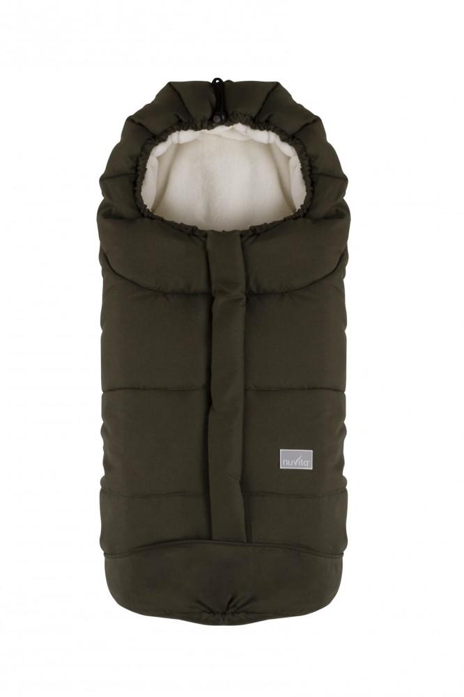Sac de iarna 80 cm Ovetto City Dark GreenBeige 9045 din categoria Carucioare Copii de la NUVITA