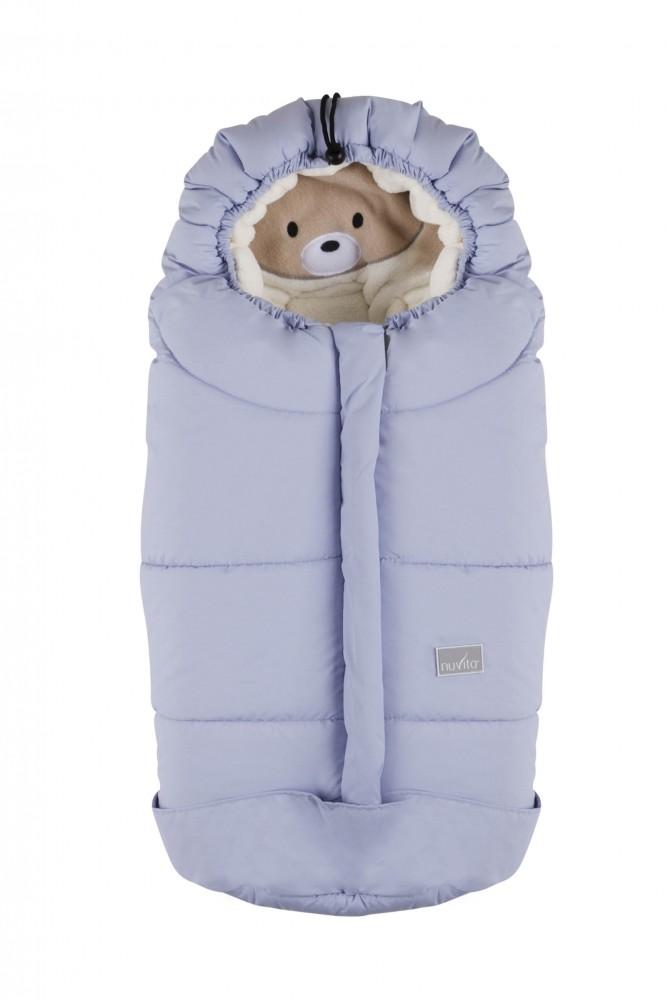 Sac de iarna 80 cm Ovetto Cuccioli Bear Soft BlueBeige 9205 imagine