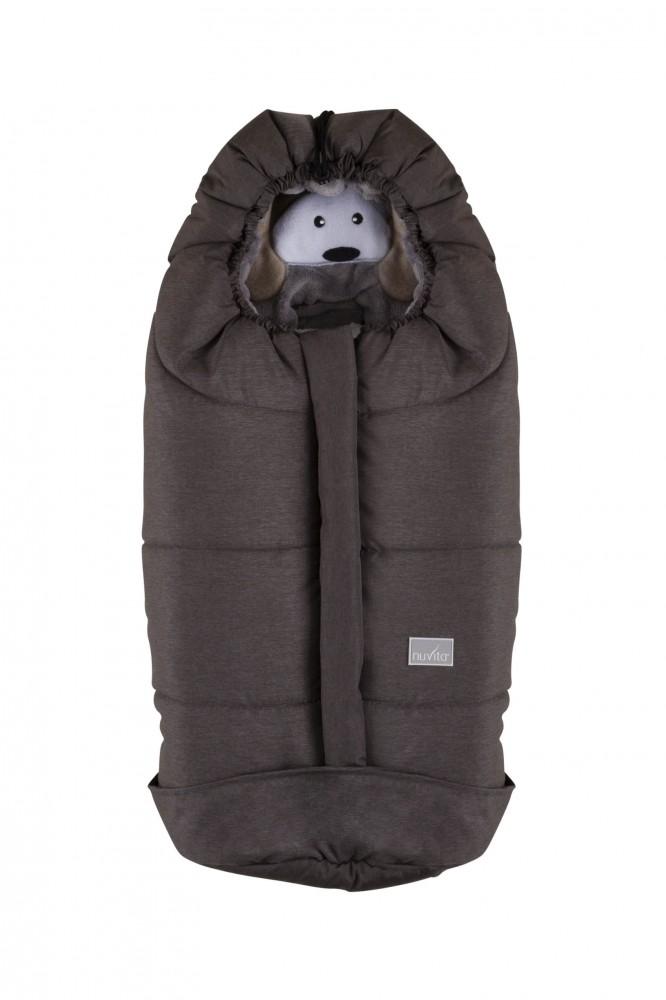 Sac de iarna 80 cm Ovetto Cuccioli Dog Melange ChocolateGrey 9205 din categoria Carucioare Copii de la NUVITA