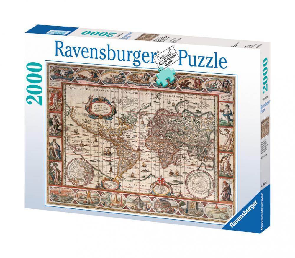 Puzzle Harta Lumii 1650, 2000 piese