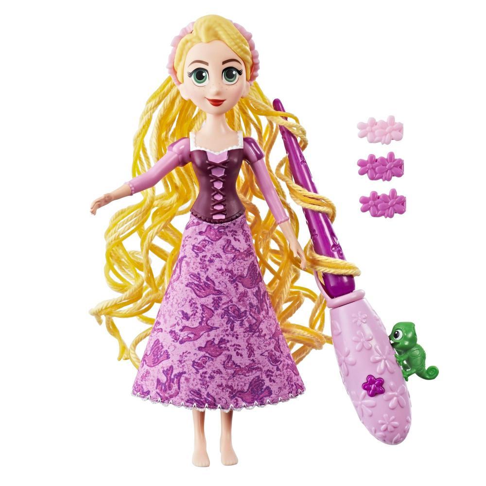 Papusa Rapunzel cu parul impletit
