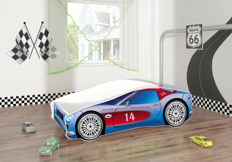 Pat Tineret Race Car 02 Blue 160x80