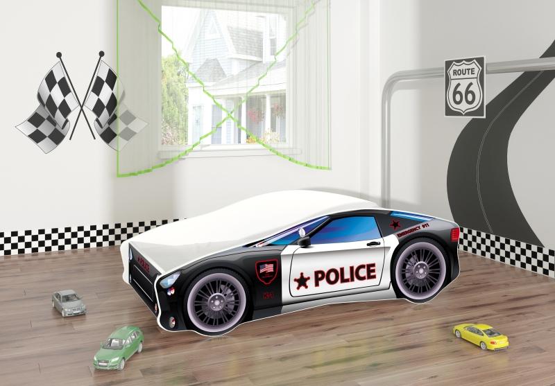 Pat Tineret Race Car 03 Police 160x80 imagine