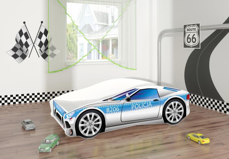Pat Tineret Race Car 09 Policja 160x80