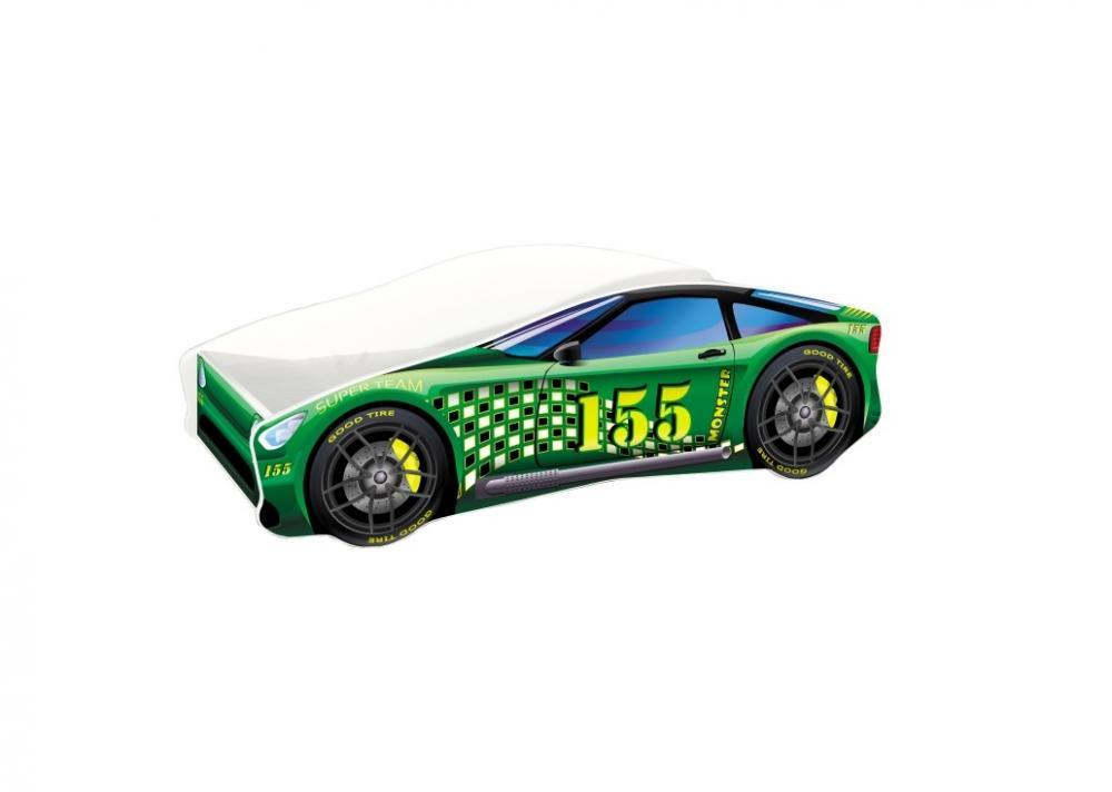 Pat Tineret Race Car 04 Green 140x70 imagine