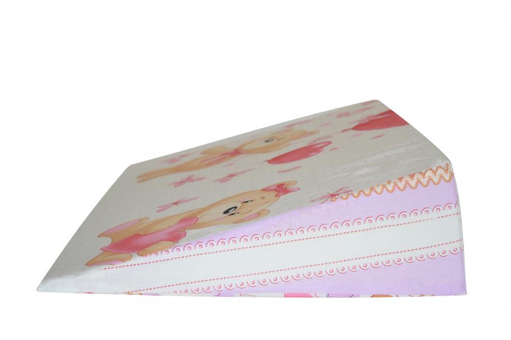 Perna plan inclinat multifunctionala Bear Heart Pink