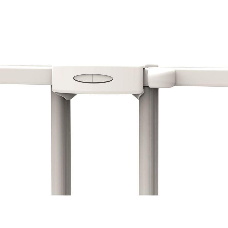 Poarta de siguranta extensibila Noma 62 - 102 cm metal alb N93361