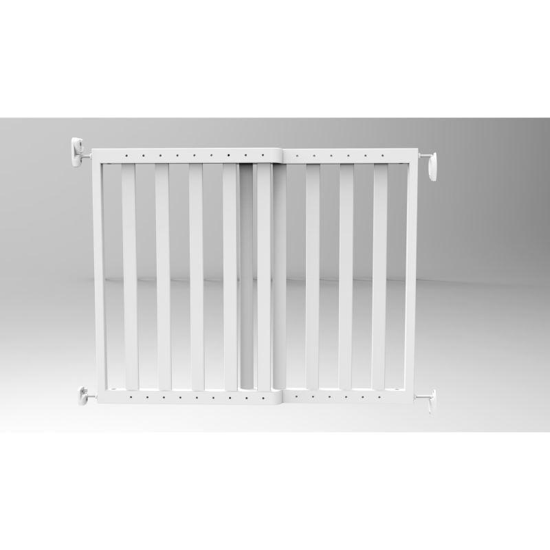Poarta de siguranta extensibila Noma 64 - 100 cm lemn alb N94153