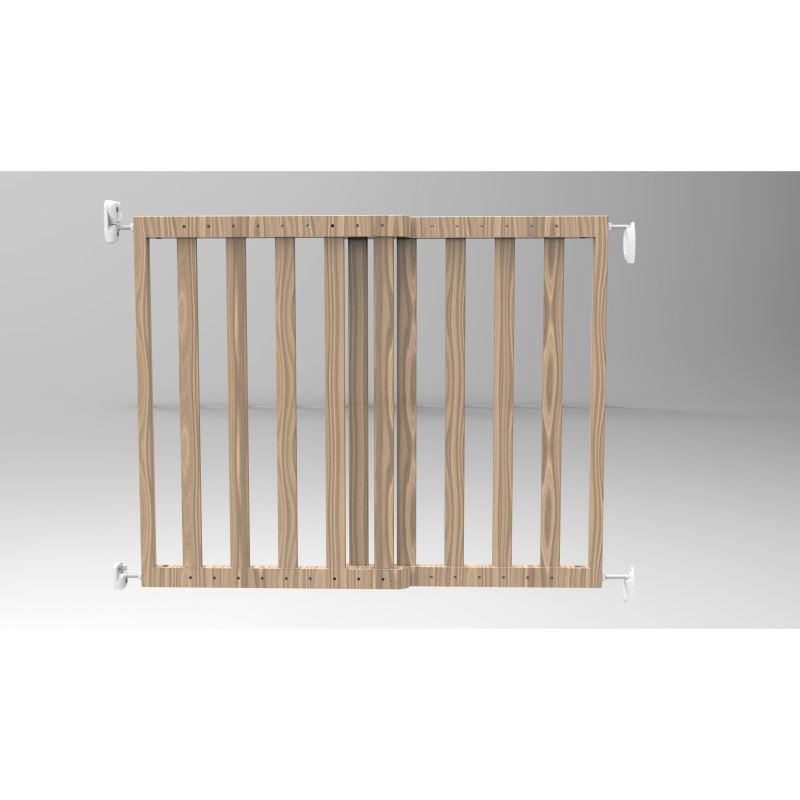 Poarta de siguranta extensibila Noma 64 - 100 cm lemn natur N93729