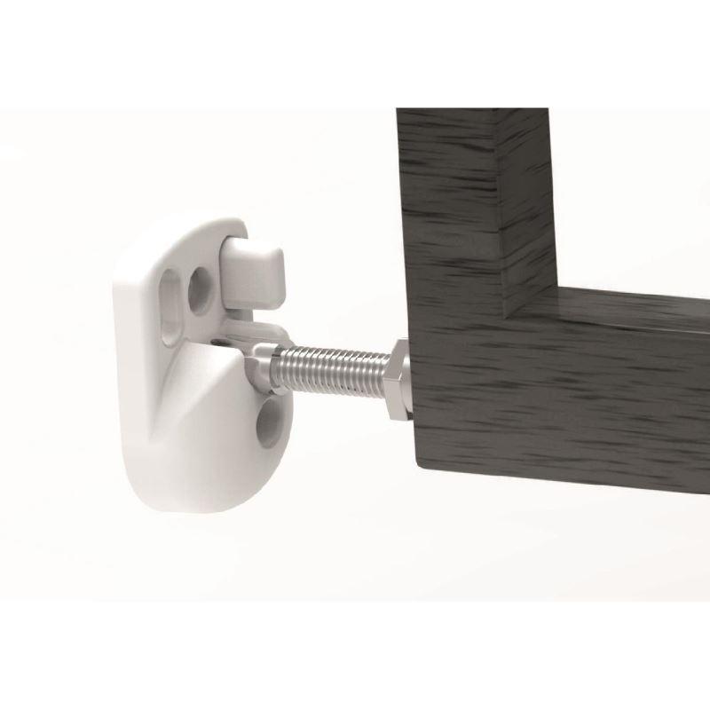 Poarta de siguranta extensibila Noma 64 - 100 cm lemn negru N93743
