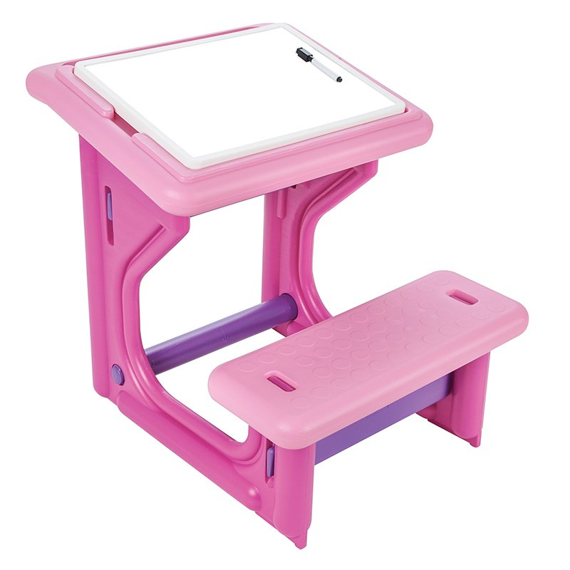 Masuta pupitru de studiu si desen Study Desk Pink imagine